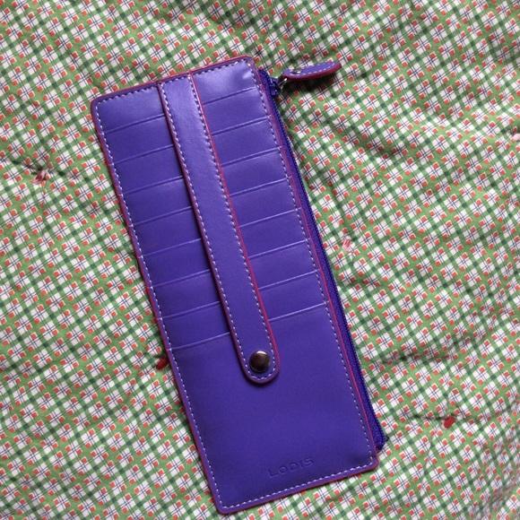 Lodis Handbags - LODIS Lavender Card ID Wallet Coin Pouch
